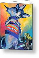 Sphynx Cats Friends Greeting Card