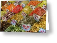 Spice Market In Istanbul Greeting Card