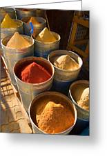 Spices In Marrakesh Morroco Greeting Card