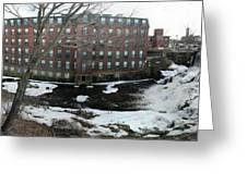Spicket River Dam Condos Greeting Card