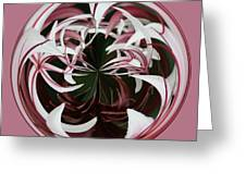 Spider Lily Orb Greeting Card