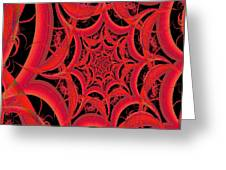 Spider Web Flame Fractal Abstract 793 Greeting Card