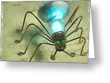 Spiderlamp Greeting Card