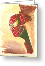 Spiderman Hiding Greeting Card