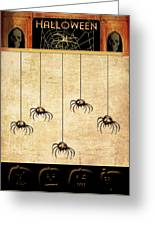 Spiders For Halloween Greeting Card
