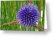 Spiky Blue Greeting Card