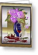 Spilled Wine Greeting Card