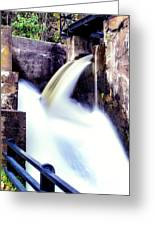 Spillway On The Canal Greeting Card