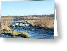 Spillway Panorama Greeting Card