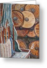 Spindles And Spools Greeting Card