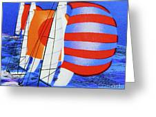 Spinnakers. Greeting Card