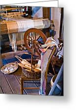 Spinning And Weaving Greeting Card