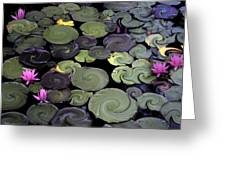 Spinning Lilies Greeting Card