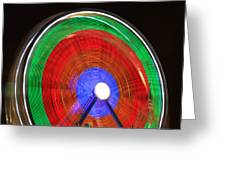 Spinning Wheels Greeting Card