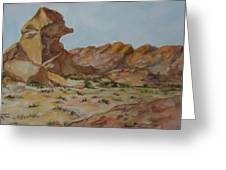 Spinx In The Valley Of Fire Greeting Card