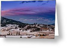 Spion Kop In Winter Greeting Card by Rod Sterling