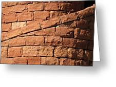 Spiral Bricks Greeting Card