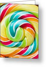 Spiral Candy  Greeting Card
