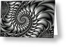 Spiral Down Fractal Poster Greeting Card