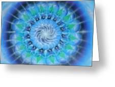 Spiral Gallaxies Greeting Card