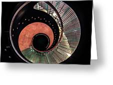 Spiral Glass Stairs Greeting Card