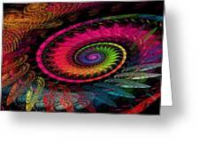 Spiral In  Spirals. Greeting Card