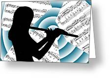 Spiral Music Greeting Card