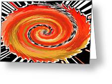 Spiral Of Fire Greeting Card