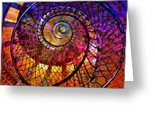 Spiral Spacial Abstract Square Greeting Card