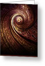 Spiral Staircase In An Old Abby Greeting Card