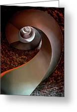 Spiral  Staircase In An Old Lighthouse Greeting Card