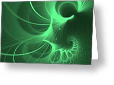 Spiral Thoughts Green Greeting Card