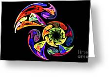 Spiral Toucan Greeting Card