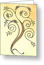 Spiral Tree Greeting Card by Nora Blansett