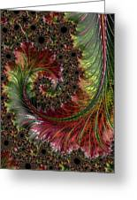 Spiralling Fractal One Greeting Card