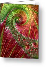 Spiralling Fractal Three Greeting Card