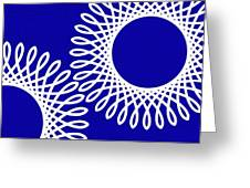 Spirals With Blue Greeting Card