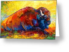 Spirit Brother - Bison Greeting Card