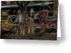 Spirit Carriage 3 Greeting Card