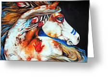 Spirit Indian War Horse Greeting Card by Marcia Baldwin