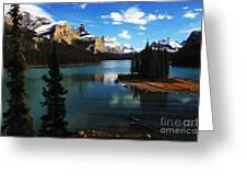 Spirit Island Jasper Canada Greeting Card
