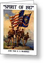 Spirit Of 1917 - Join The Us Marines  Greeting Card