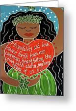 Spirit Of Aloha Greeting Card