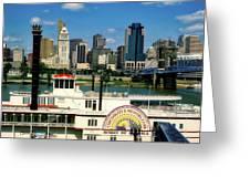 Spirit Of America And Cincinnati  Greeting Card