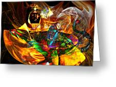 Spirit Of The Lamp Greeting Card