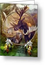 Spirit Of The Moose Greeting Card