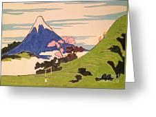 Spirit Of Ukiyo-e In The Light Of Shinto Greeting Card