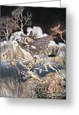 Spirits In Sleepy Hollow Greeting Card by Granger