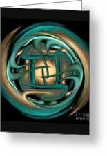 Spiritual Art - Healing Labyrinth By Rgiada Greeting Card