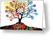 Spiritual Art - Tree Of Life Greeting Card
